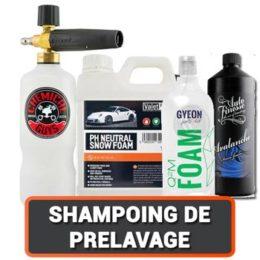 Les Shampoings Moussant pour le Pré lavage Auto