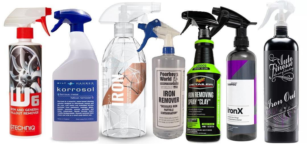 Voici les produits anti ferreux les plus connus sur le marché du detailing.