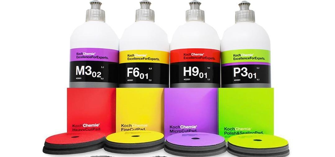 Koch Chemie propose des Polishs et Pad de Polissage pour un polissage professionnel, à la polisseuse rotative et à la dual action