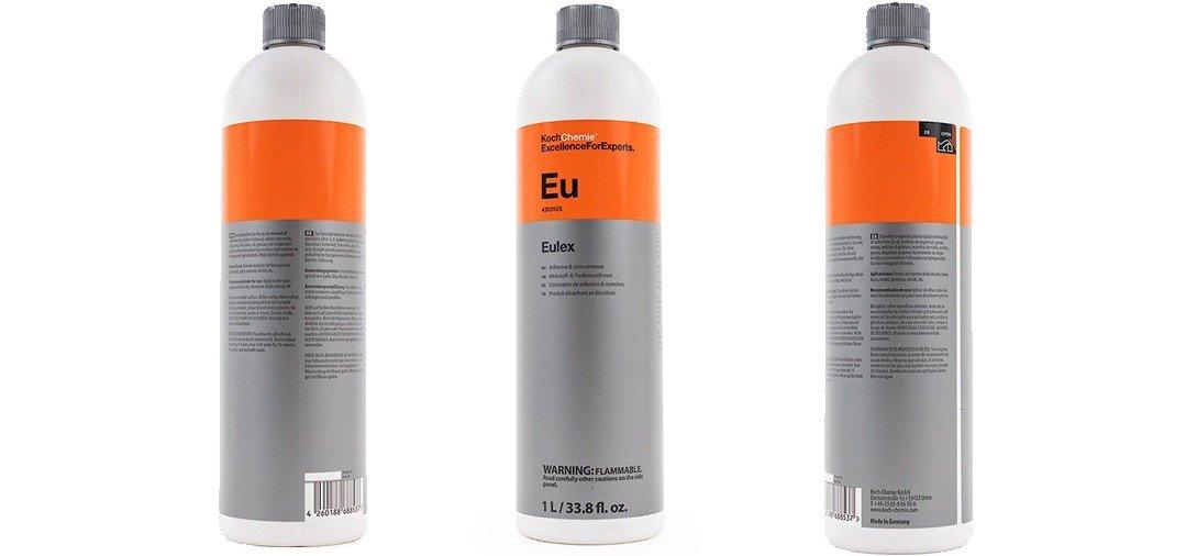 Le Dégoudronnant Eulex de Koch Chemie : ultra puissant, ultra efficace sur le goudron ou encore sur la colle des plombs des jantes